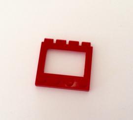 Scharnierend open dakdeel 4x4 rood (2349)