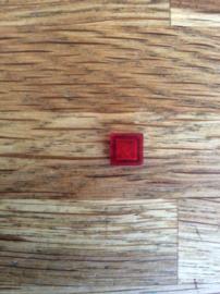 Tegel 1x1 transparant rood (3070b)