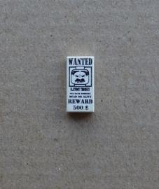 Tegel met Wanted poster (3069bpx37)