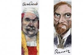 Literary Luminaries boekenlegger Kunstenaars