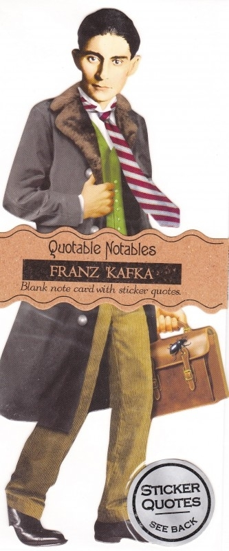 Quotable Notable: Franz Kafka kaart
