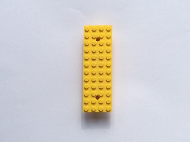 Autobasis 4x12x1 2/3 geel (bb48)