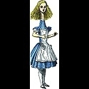 Alice in Wonderland Quotable Notable kaart