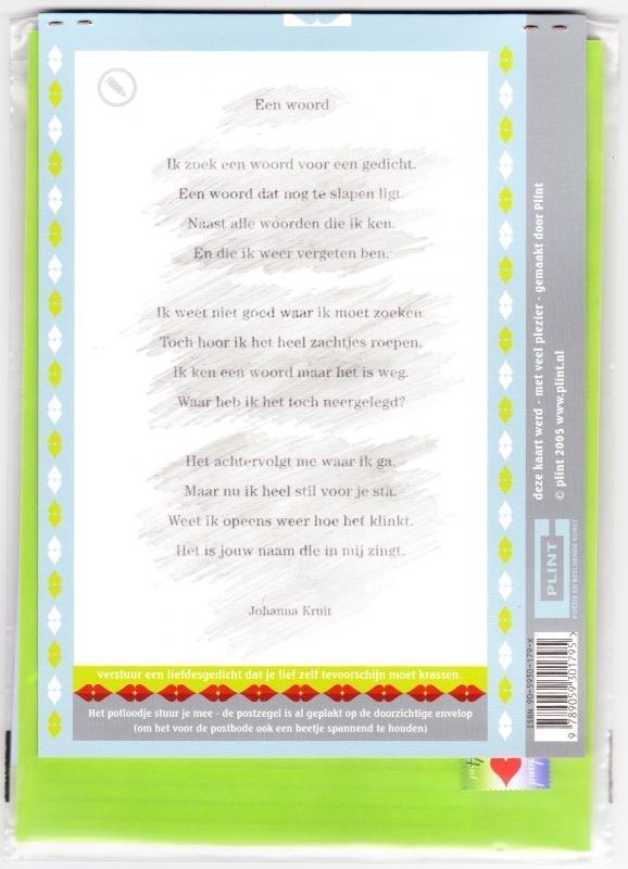 Betoverend liefdesgedicht / krasgedicht
