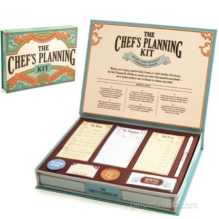 The Chef`s planning kit voor koks in de dop