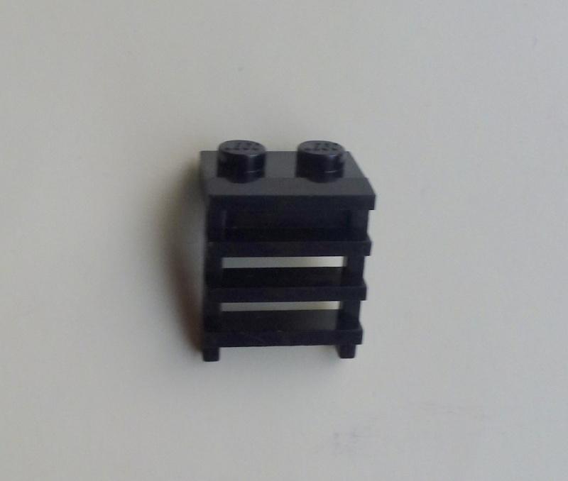 Plaatje 1x2 met ladder zwart (4175)
