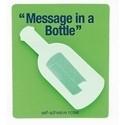 Koelkastmagneet met post it briefjes Message in a bottle