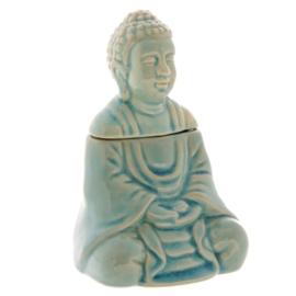 Zittende Budha Blauw