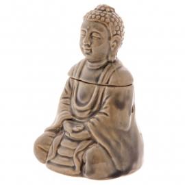 Zittende Budha Bruin