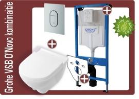 Grohe Villeroy&Boch O`Novo toiletkombinatie