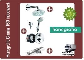 Hansgrohe croma 160 showerset chroom met afvoergoot