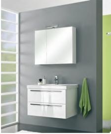 Cubic badmeubelset met spiegelkast met verlichting 90cm