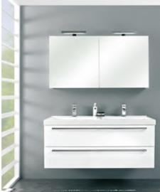 Cubic badmeubelset met spiegelkast met verlichting 120cm