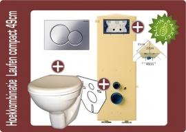 Hoek Laufen compact toiletkombinatie