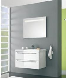 Cubic badmeubelset met spiegel met verlichting 90cm