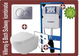 Geberit UP320 Villeroy&boch subway 2.0 Directflush (rimfree) toiletkombinatie