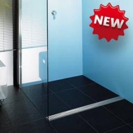 Aco showerdrain voor plaatsing voor of achter in inloopdouche