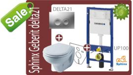 Geberit UP100/Delta21 Sphinx toiletkset -SALE-