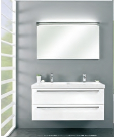 Cubic badmeubelset met spiegel met verlichting 120cm