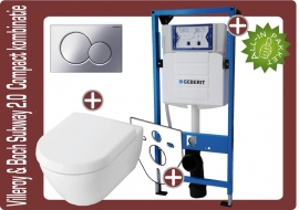 Geberit UP320 Villeroy&boch subway 2.0 compact 48cm Directflush (rimfree) toiletkombinatie