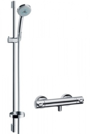 Inloopdouche 100+45cm Hansgrohe croma100+ecostat1001