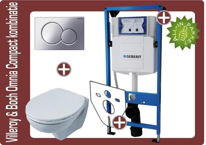 Geberit UP320 Villeroy&Boch Omnia compact wandklosetkombinatie