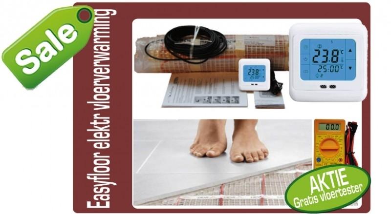 EasyComfort vloerverwarming op mat 50x1600 8,0m² 1200watt