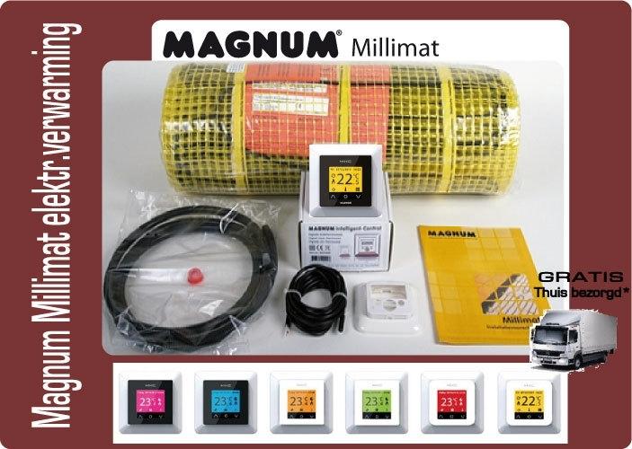 Magnum Mat elektrische vloerverwarming 150 W, 1,0 m2 met klokthermostaat 200205