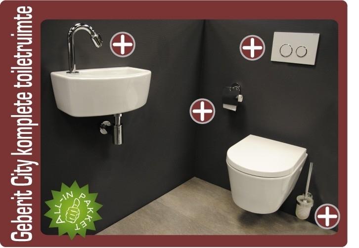 Geberit UP320 City compact komplete toiletruimte