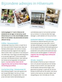Bijzondere adresjes in Hilversum - Connexxion Magazine