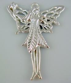 Hanger Fairy 5 cm bij 4 cm zilverkleurig