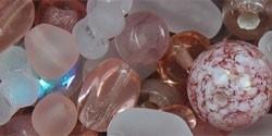 Preciosa Glaskraal Mix Rosaline, per 50 gram/±60 kralen