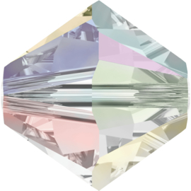 #5328 4mm Crystal AB2X, per 2 stuks