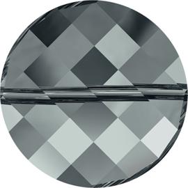 Swarovski #5621 Twist Bead 14mm Black Diamond, per stuk