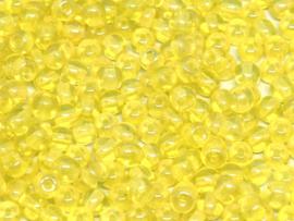 Tsjechisch/Czech rond 4mm Amber Shimmer, per 100 stuks