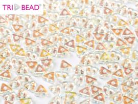 Tri-bead Crystal AB, per 5 gram (±140 stuks)