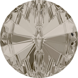 Swarovski #3015 Rivoli Button 14mm Crystal Satin, per stuk