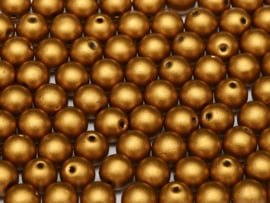 RB6-01740 rond 6mm Brass Gold, per 30 stuks