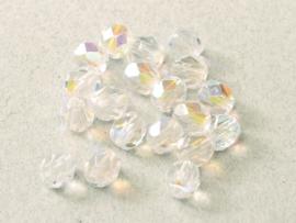 00030/28701Fire polished 4mm Crystal AB, 100, of 50 stuks, vanaf