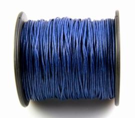 Waxkoord 1mm Marineblauw, per 10 of 5 meter, vanaf