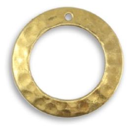Vintaj Tiny Hammered Ring 19mm, per stuk