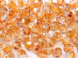 00030/98535Fire polished 3mm Crystal Orange Rainbow, 100 of 50 stuks, vanaf
