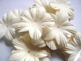 Bloemblaadje 3,5cm Wit, per 14 stuks