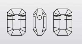 Swarovski #5514Pendulum Bead 7x10mm Crystal Paradise Shine, per stuk