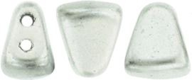 PBNIB-K0170 Matubo NIB-BIT 6x5mm Matte Metallic Silver, per 10 gram