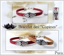 Armband 'Copines', ontwerp Puca, met o.a. Amos® par Puca®