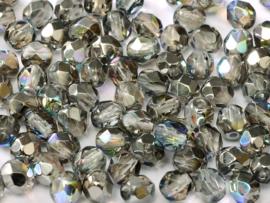 00030/98537 Fire polished 3mm Crystal Graphite Rainbow, 100 of 50 stuks, vanaf