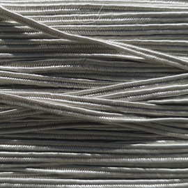 Soutache 3mm 058 Silver Gray, per meter