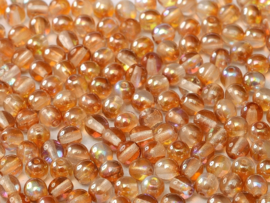 Tsjechisch/Czech rond 3mm Crystal Orange Rainbow, per 100 stuks
