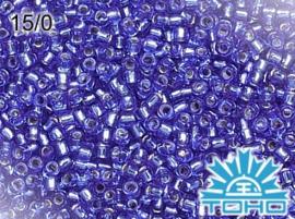 TR15-0035 TOHO 15/0 Silver-Lined Sapphire, doosje van 5g